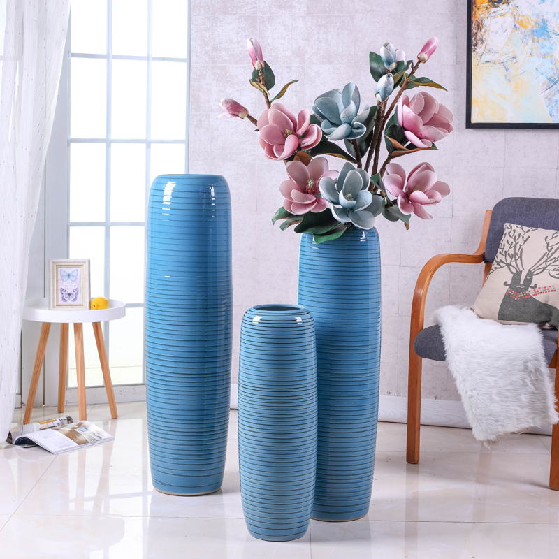 Porch ground vase jingdezhen ceramic sitting room Nordic simulation flower suit I and contracted large furnishing articles arranging flowers