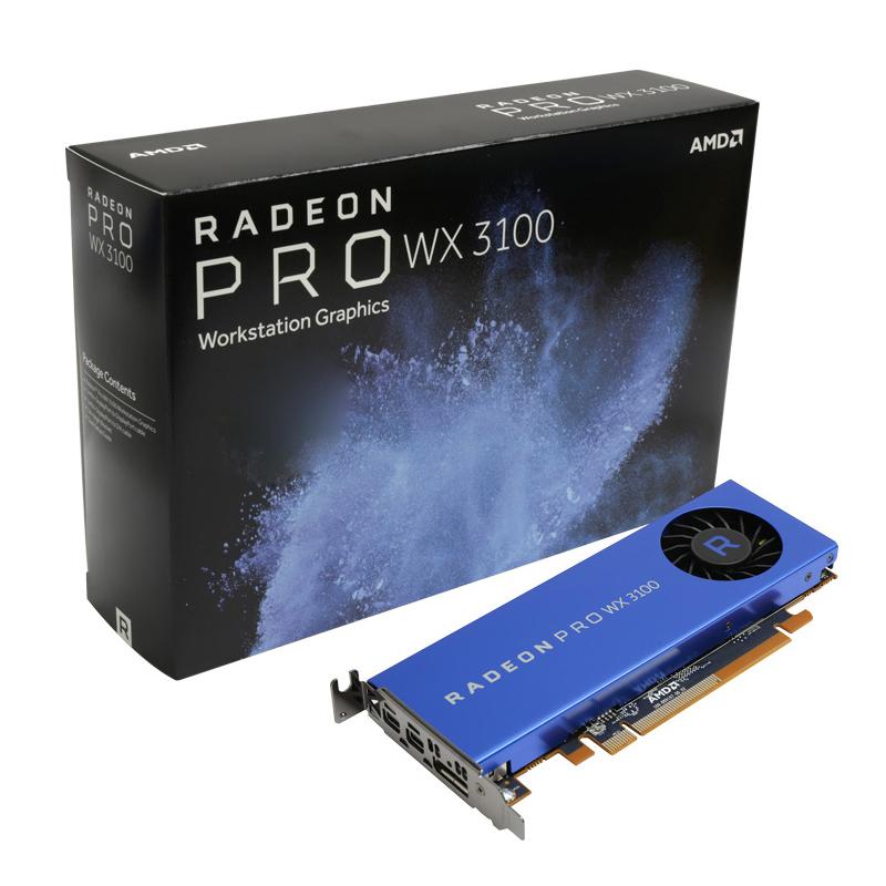 AMD Radeon Pro WX3100 4G专业绘图作图显卡3D渲染图形设计显卡设计师专用显卡工作站制图 视频剪辑 PS秒P600
