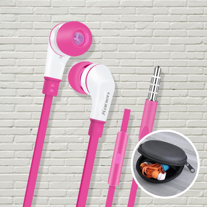 卡能彩色耳机入耳式手机通用带麦