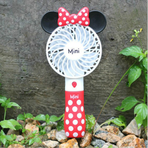 Cartoon electric fan mini small fan couple child Mickey outdoor portable handheld student men and women charging usb