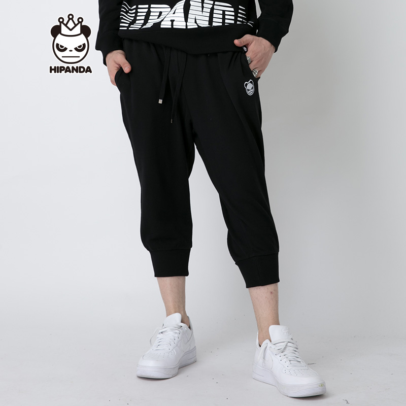 HIPANDA 你好熊猫 设计潮牌 新品 男款 基本款七分裤
