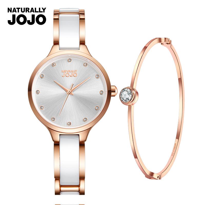 欧美JOJO陶瓷手表女水钻手链防水石英表品牌手表女款正品时装表