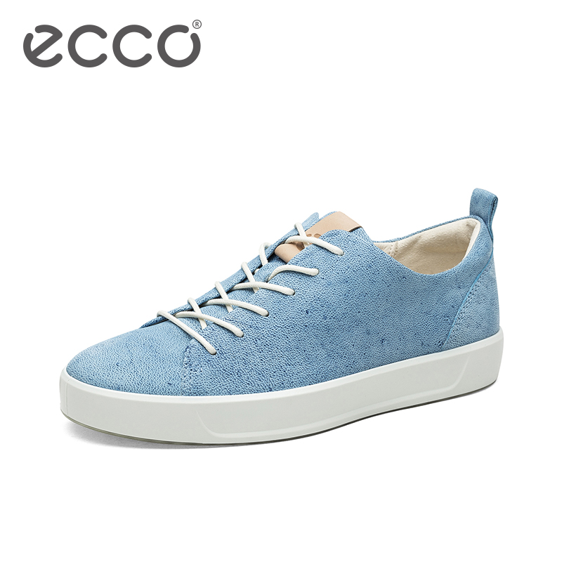 ECCO爱步2018春夏新款男鞋 时尚潮流牛仔皮鞋 SOFT8柔酷8号440504