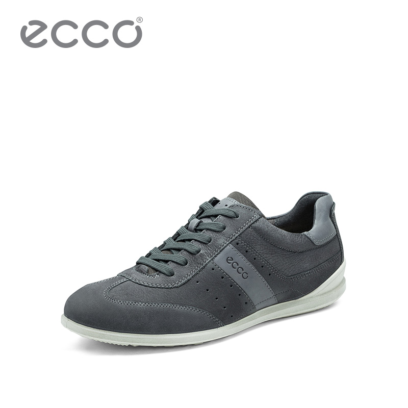 ECCO爱步休闲板鞋 男士系带舒适个性低帮鞋 切德535294