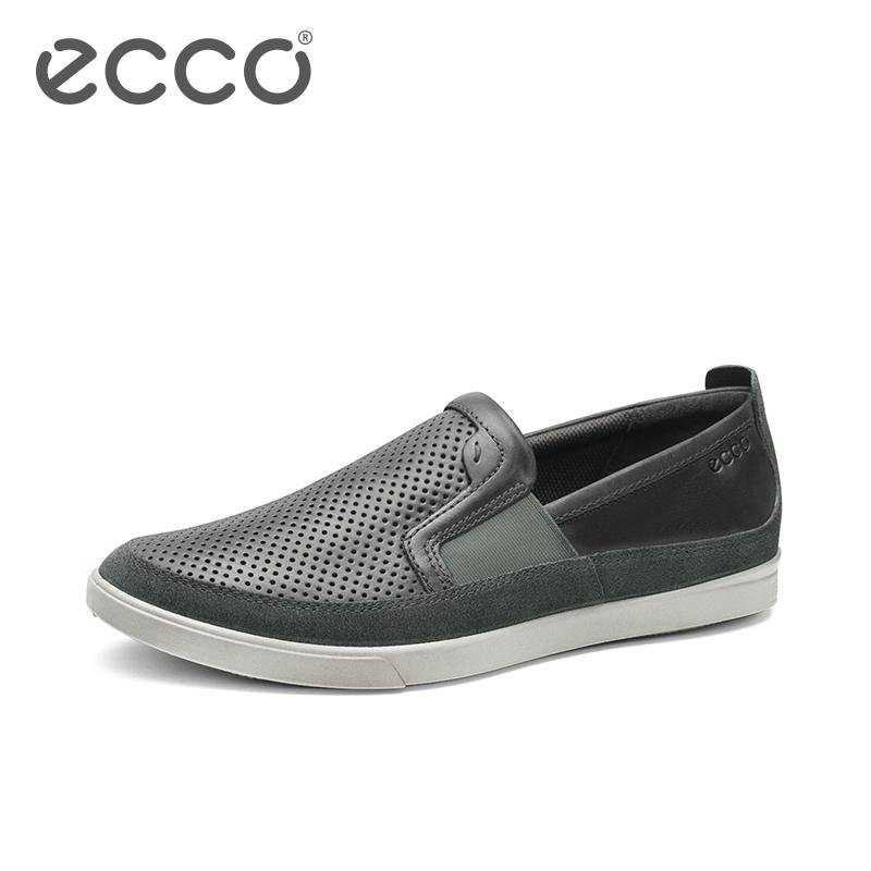 ECCO爱步新款男士休闲鞋 透气舒适一脚蹬复古套脚鞋 科林535964