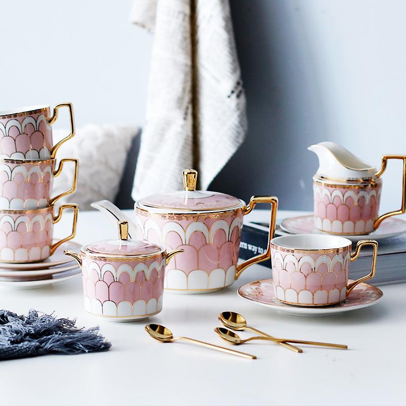 诺轩创意英式下午茶茶具套装陶瓷咖啡杯欧式咖啡具套装北家用办公