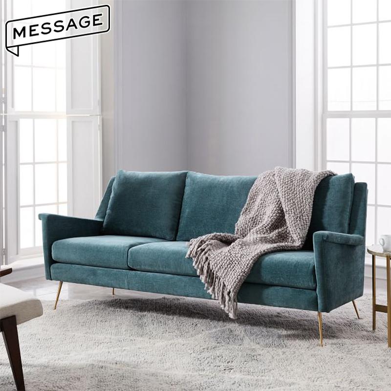 北欧布艺沙发现代简约小户型客厅卧室整装单二三双人轻奢风格家具