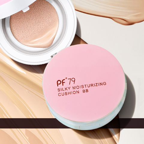 【第2件0元】PF79丝薄莹润气垫bb霜15g*2象牙色裸妆遮瑕持久水润