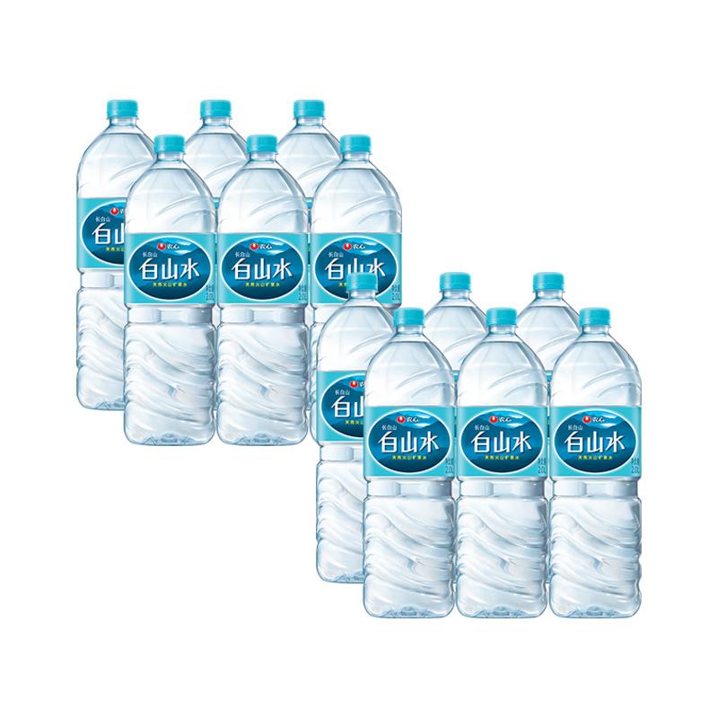 农心 白山水 长白山天然矿泉水2L*12瓶*3件