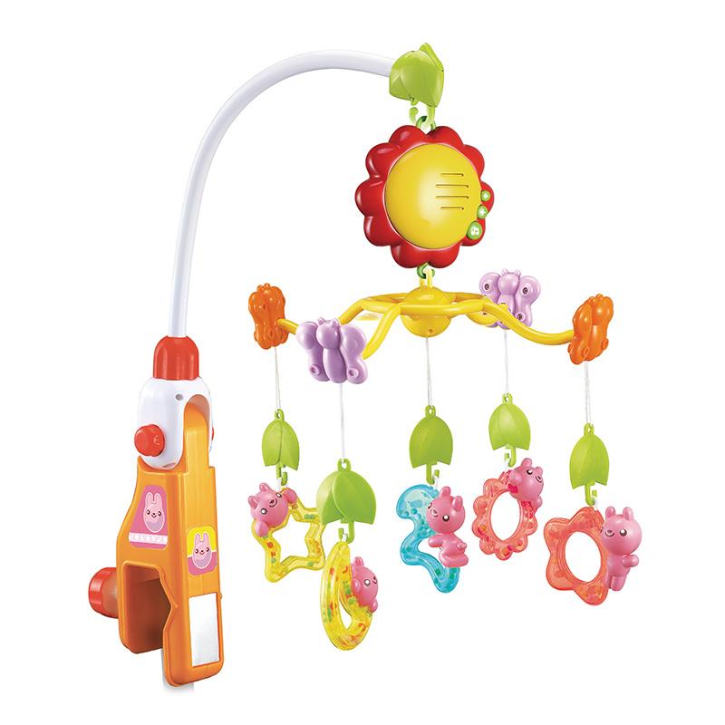 澳贝 婴儿玩具旋转床铃 迪迪兔床铃 音乐摇铃挂铃