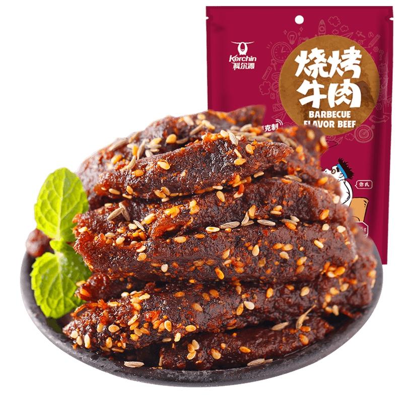 科尔沁烧烤牛肉105g牛肉干休闲零食小吃牛肉条