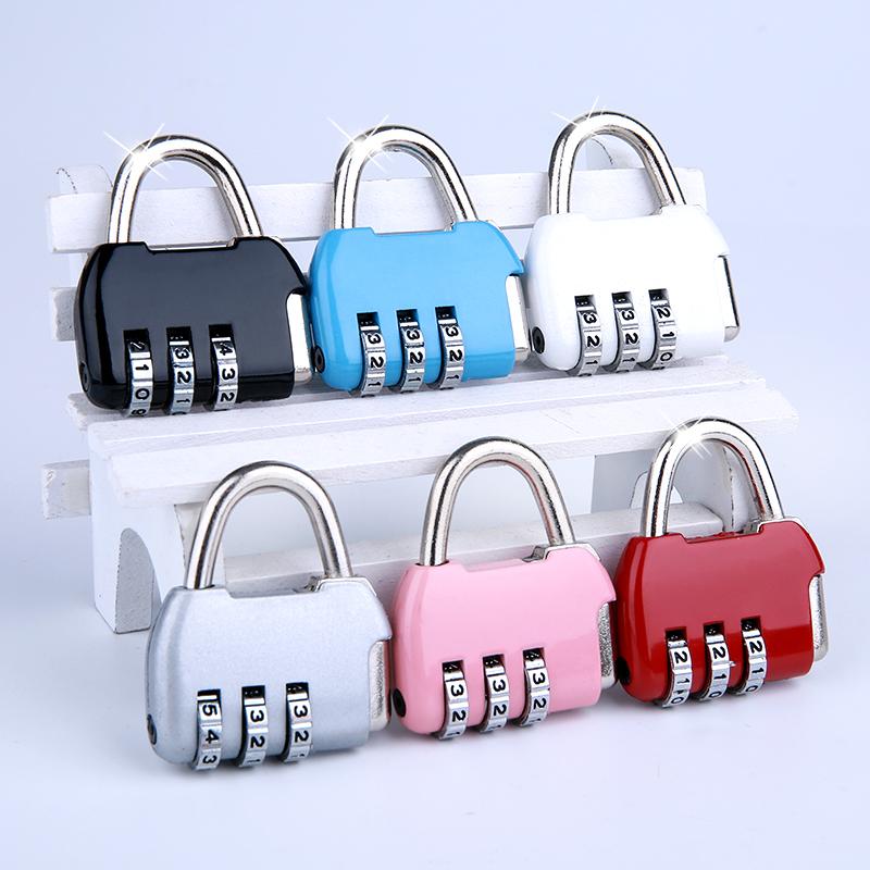 milor密码锁挂锁 迷你柜子柜门锁具家用背包行李箱学生宿舍小锁头