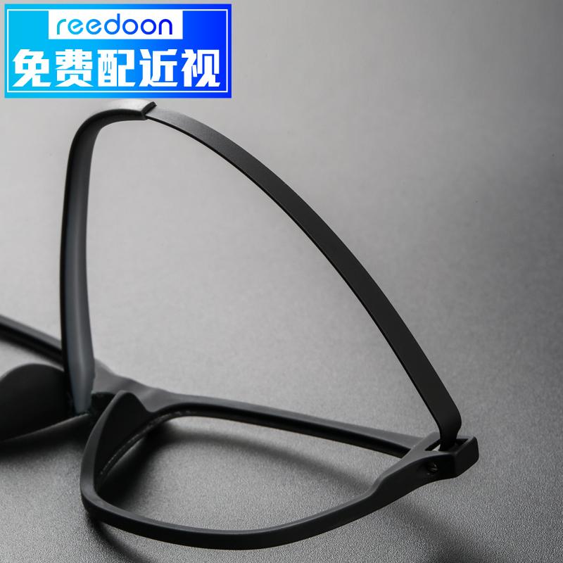 新款纯钛眼镜框男超轻近视眼镜架复古全框成品平光镜学生大脸黑色