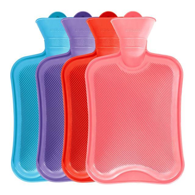 杜托橡胶注水热水袋防爆充水暖水袋暖宫卡通可拆洗毛绒套暖手宝女
