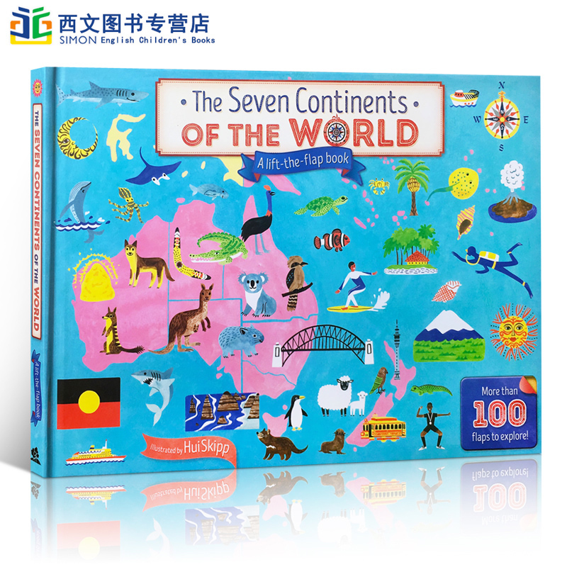 Spot English Original Book The Seven Continents Of The World - Seven continents of the world