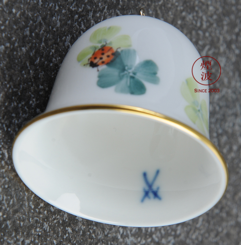 German mason mason meisen porcelain coloured drawing or pattern the bell series festival gift H 5 cm