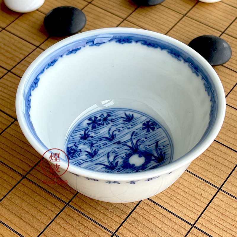Jingdezhen lesser RuanDingRong made lesser hand - made planting poetry painting of sample tea cup tea cups