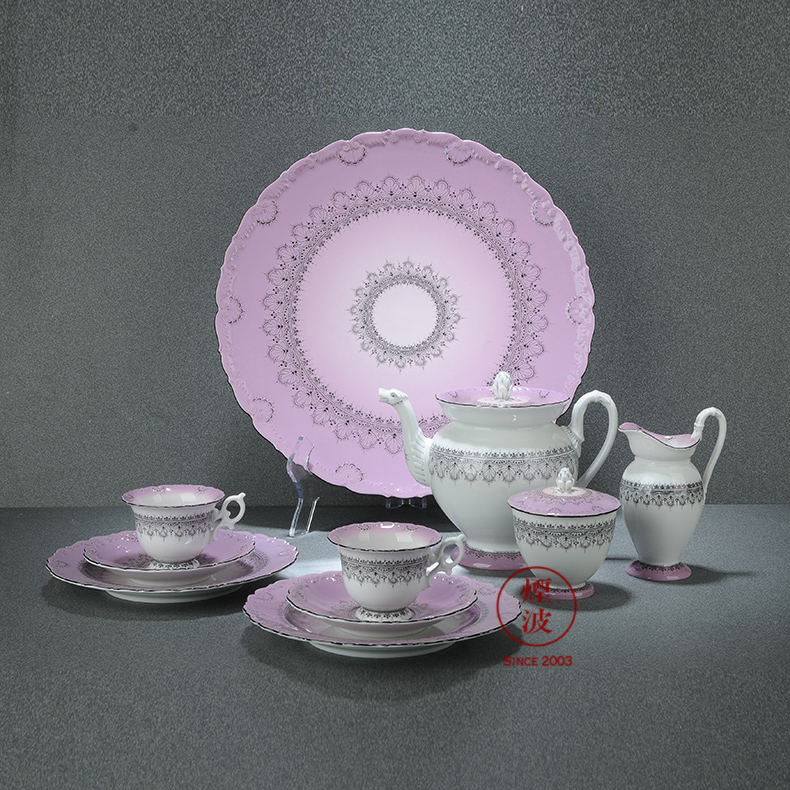 German mason MEISSEN mason meisen China limited works hand - made purple flowers, coffee set suits for