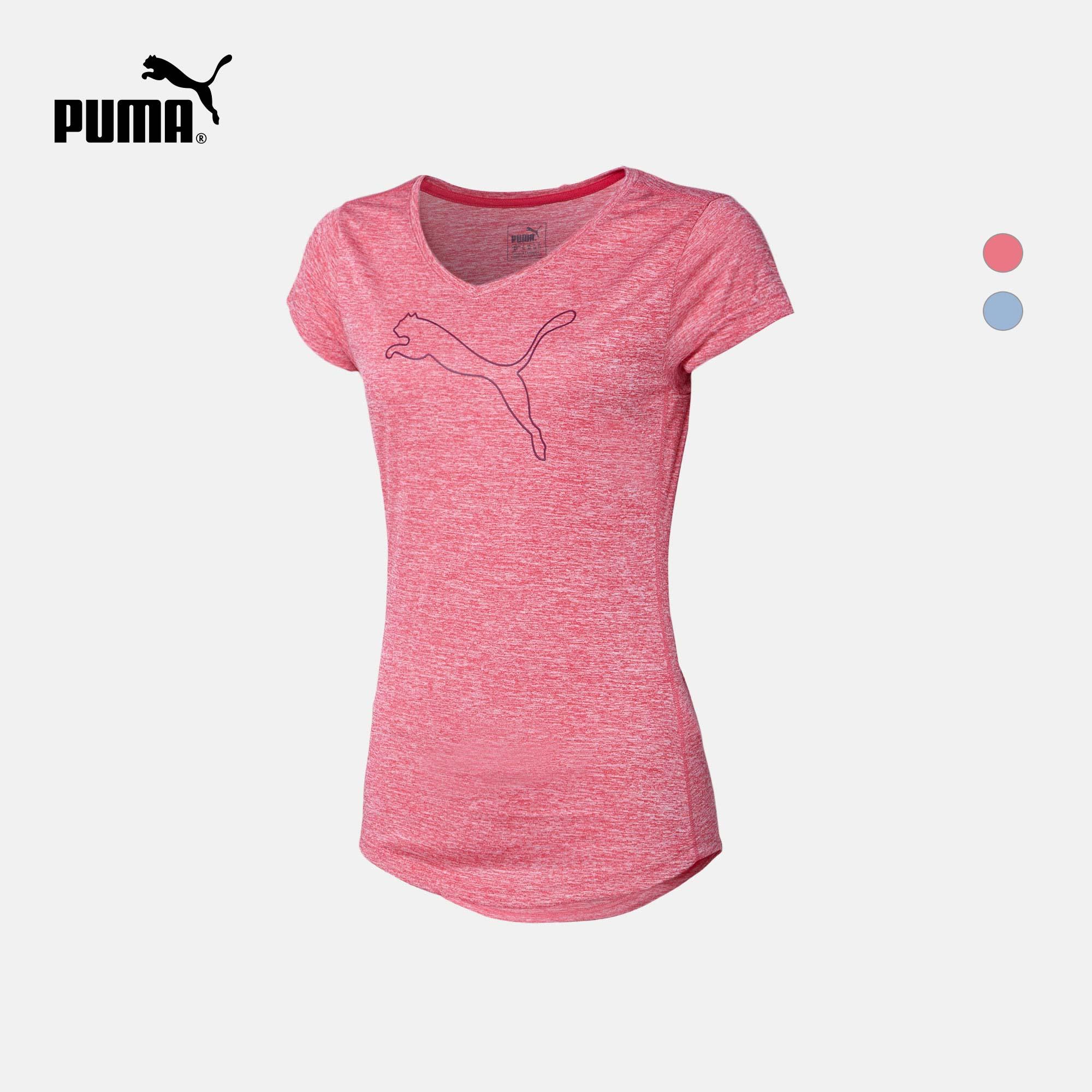 PUMA彪马官方 女子V领短袖T恤 Active Heather 514121