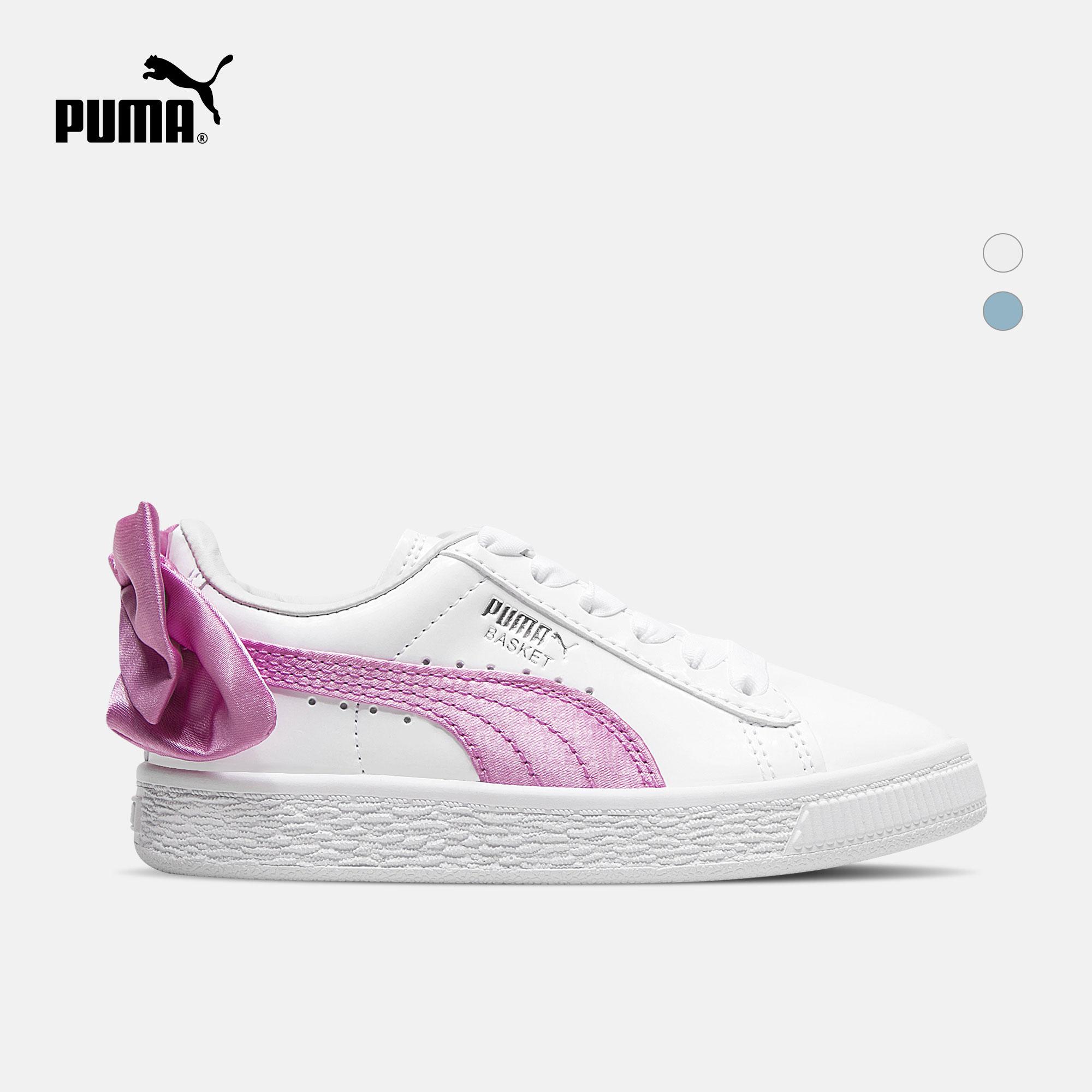 PUMA彪马官方 儿童蝴蝶结休闲鞋 Basket Bow Patent 367622