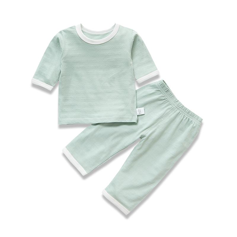 ベビールームスーツ夏純綿ベビー服男性用子供用薄いパジャマ中袖夏エアコン服,タオバオ代行-代行奈々