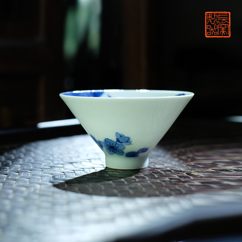 Offered home - cooked view flavour hand - made in jingdezhen blue and white marriage hat cup bell cup hand - made ceramic tea set