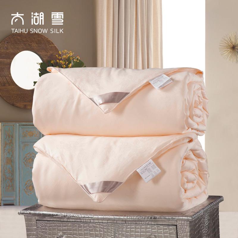 太湖雪100%桑蚕丝被子双宫茧长丝子母被春秋冬保暖被芯 馨柔2+4斤