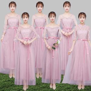 【亚博娱乐平台APP区】马来西亚新加坡台湾伴娘服短款中长款结婚姐妹团闺蜜裙