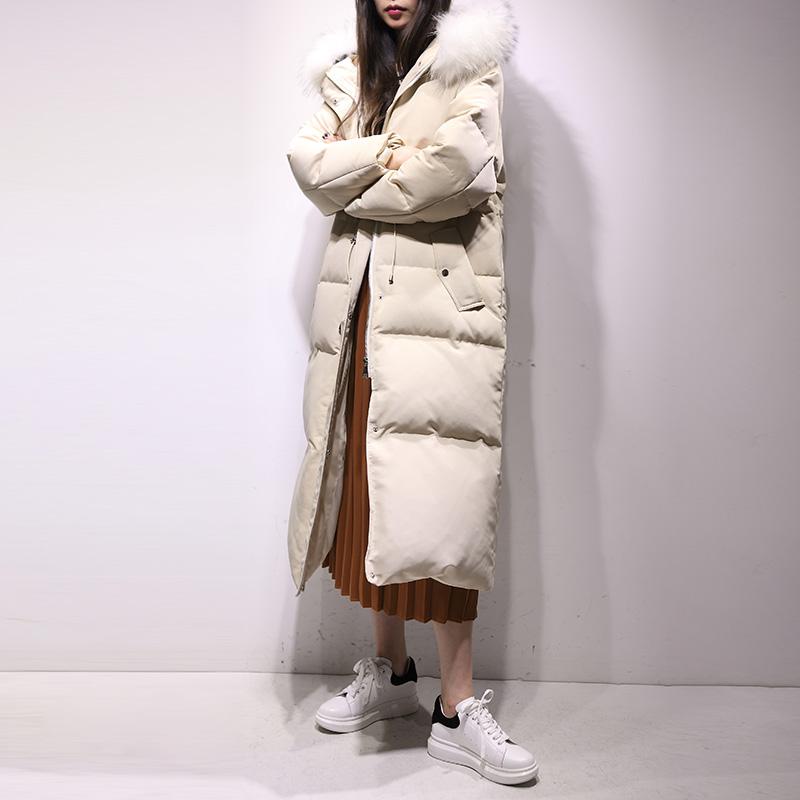 2018新款冬季韩版潮东大门长款大毛领女士羽绒服女中长款韩国GC59