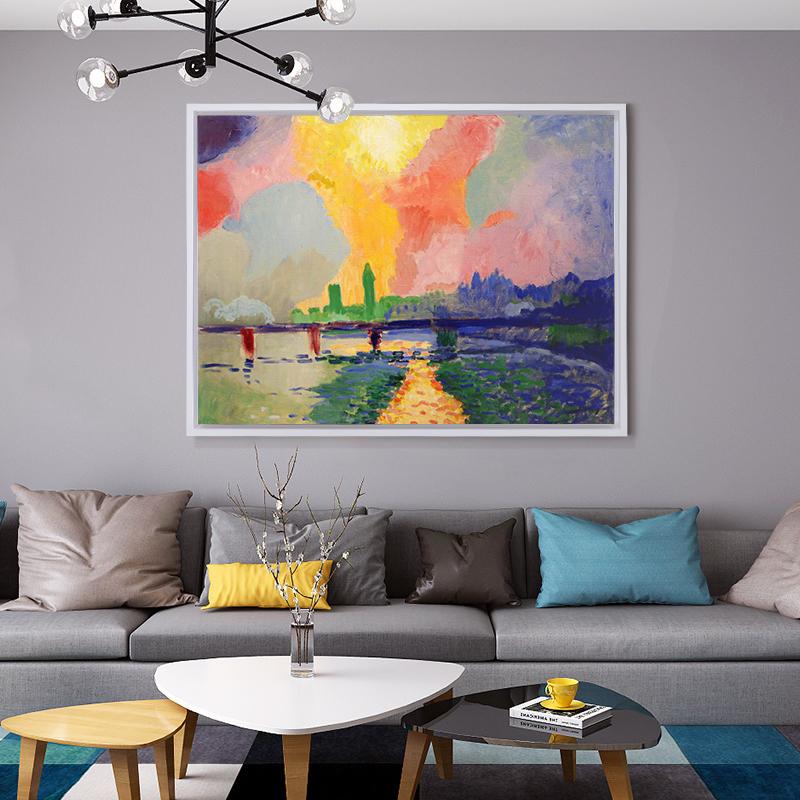 爱瑞家 安德烈德兰 手绘油画装饰画挂画壁画过道走廊玄关客厅酒店