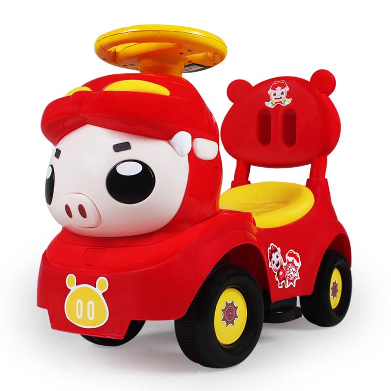 儿童车扭扭车猪猪侠 小菲菲滑行学步车1-3岁宝宝可坐溜溜玩具车