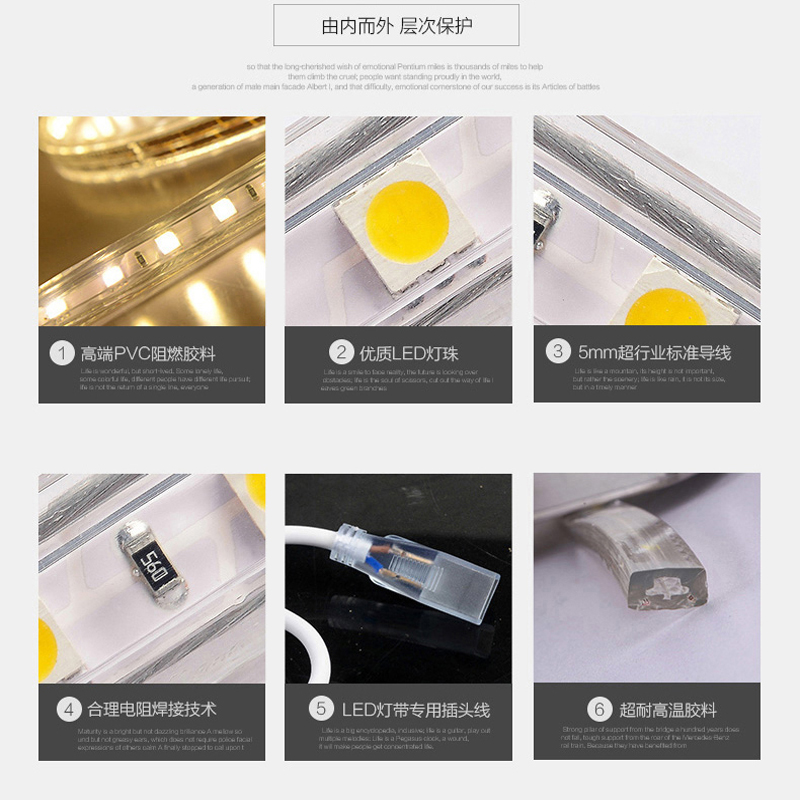 светодиодный дюралайт NVC  LED 3528