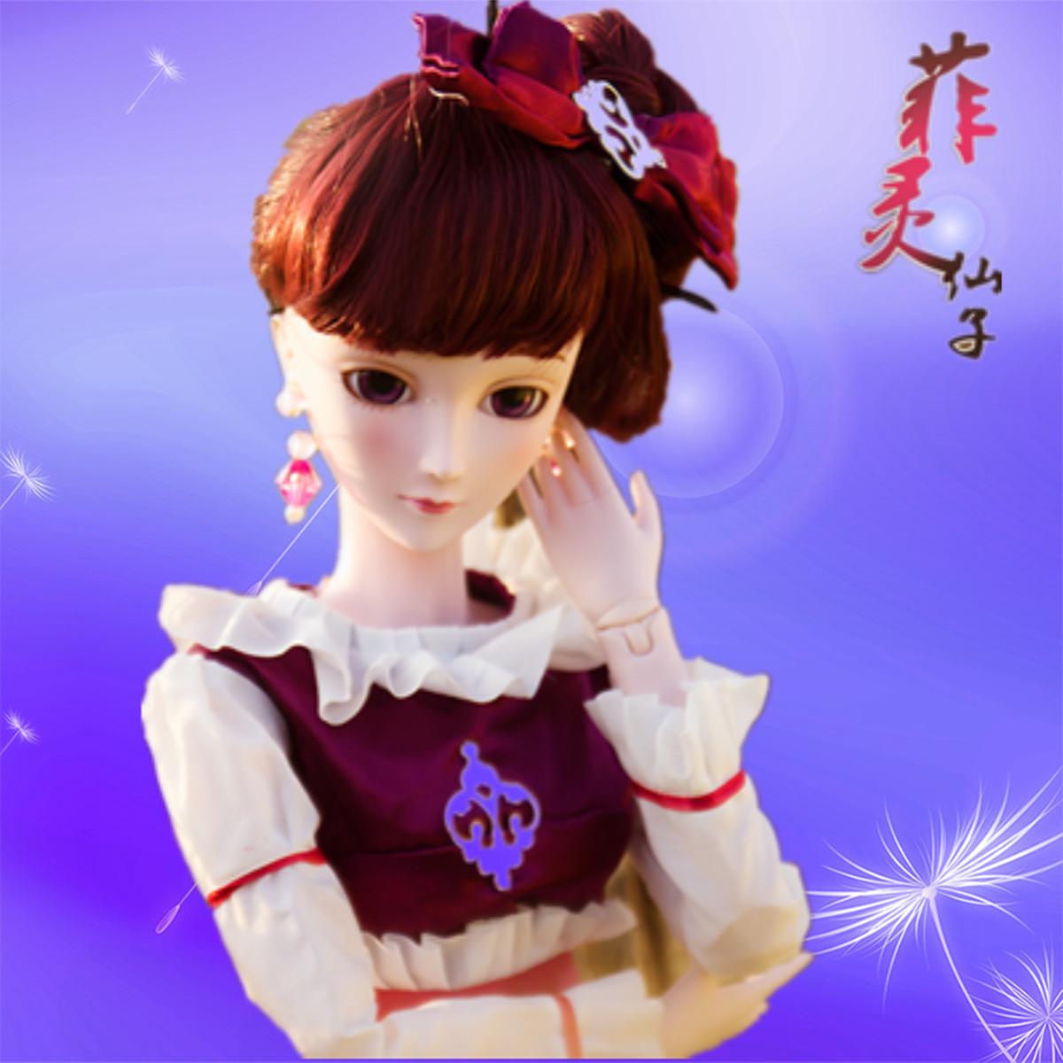 叶罗丽娃娃正品孔雀仙子齐娜黑暗菲灵黑香菱女孩玩具夜萝莉60厘米图片