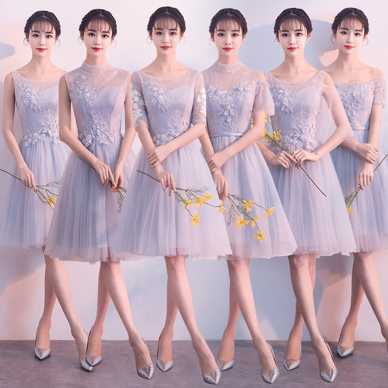 a2b87bea4a9e Bridesmaid dress 2019 new Korean version of the short section slim sisters  skirt party party small graduation bridesmaid dress skirt women