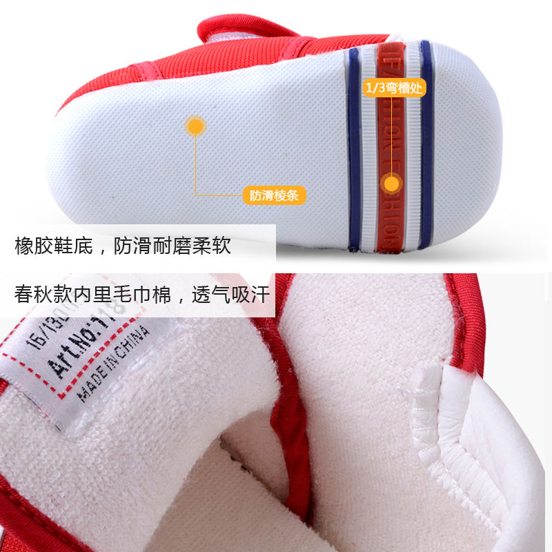 Baby shoes with non-slip soles Happy cheerful Mario 118 0-1-3
