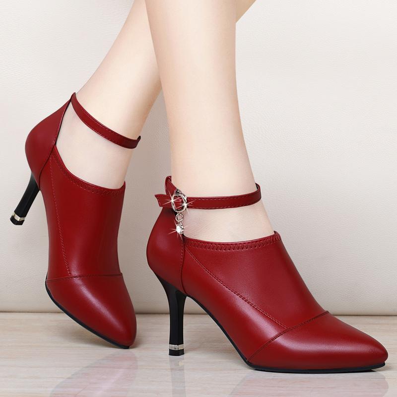 新款欧美韩版高跟鞋尖头细跟女鞋