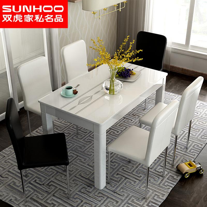 小户型餐桌大理石桌子省空间经济型小餐桌简约家用吃饭桌子16B1