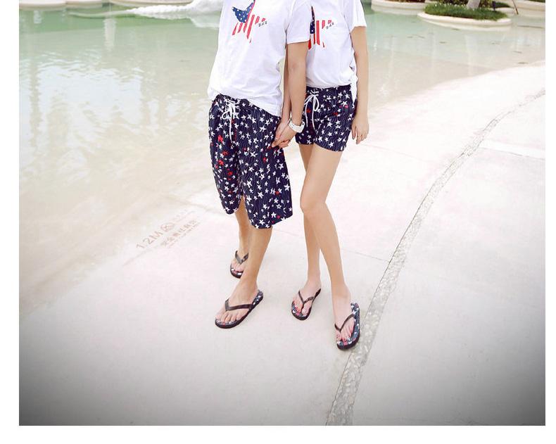 韩颜情侣沙滩裤背心t恤沙滩情侣装 巴厘岛海边度假必备套装