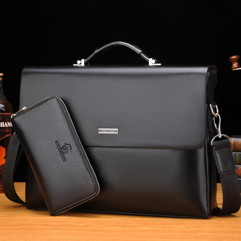 កាបូបយួរដៃបុរស  Business Mens Leather Briefcase Bag Handbags Men Business Bags Office Bags NZ0048