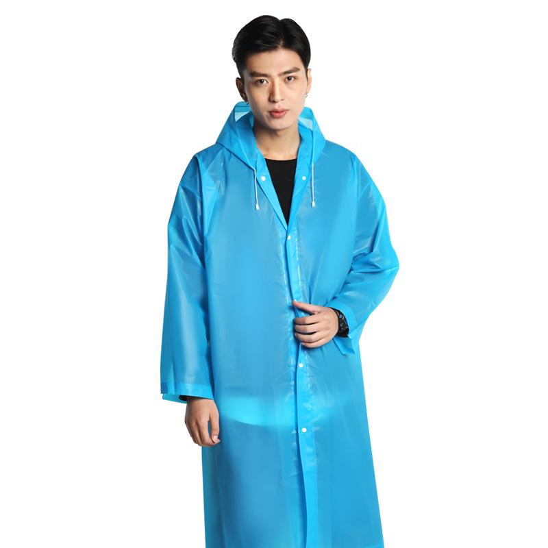雨衣外套登山徒步透明户外加厚男女通用时尚便携式非一次性雨披