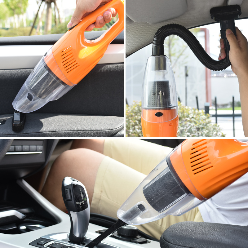 Car vacuum cleaner Car vacuum cleaner Strong hand-held suction power wet and dry 12V car