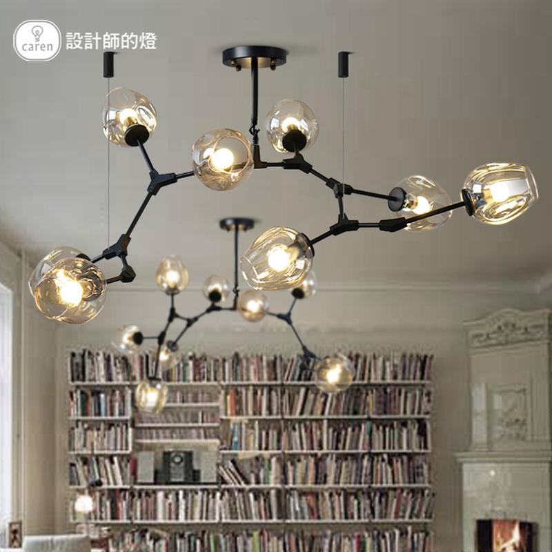 设计师的灯北欧后现代简约铁艺树枝玻璃魔豆创意个性餐厅客厅吊灯