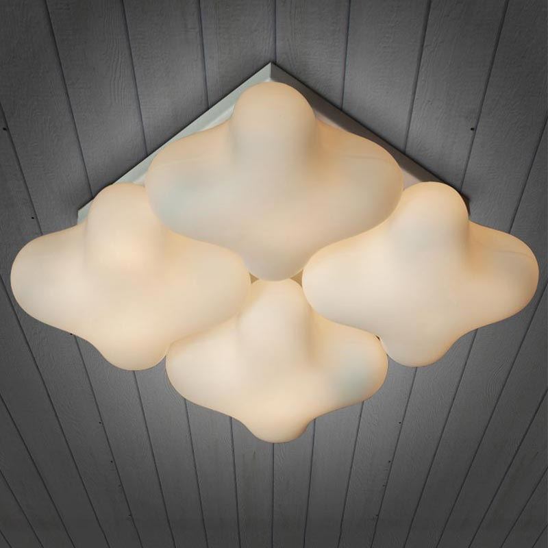设计师的灯北欧式儿童房灯具温馨正方形客厅幸运草餐厅卧室吸顶灯
