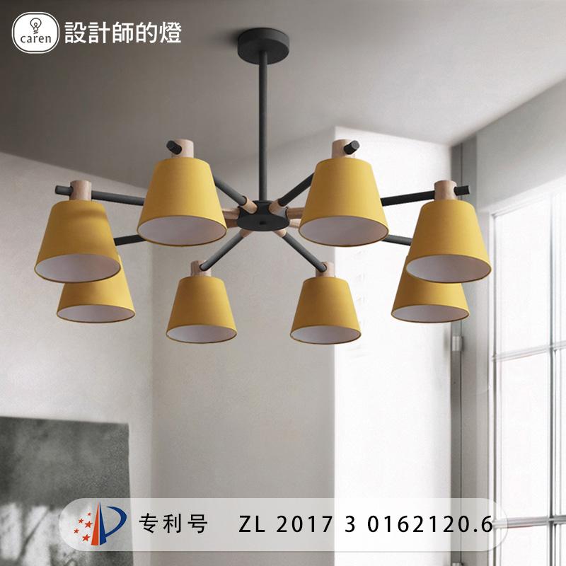 设计师的灯北欧简约创意客厅灯具餐厅卧室书房马卡龙布罩光影吊灯