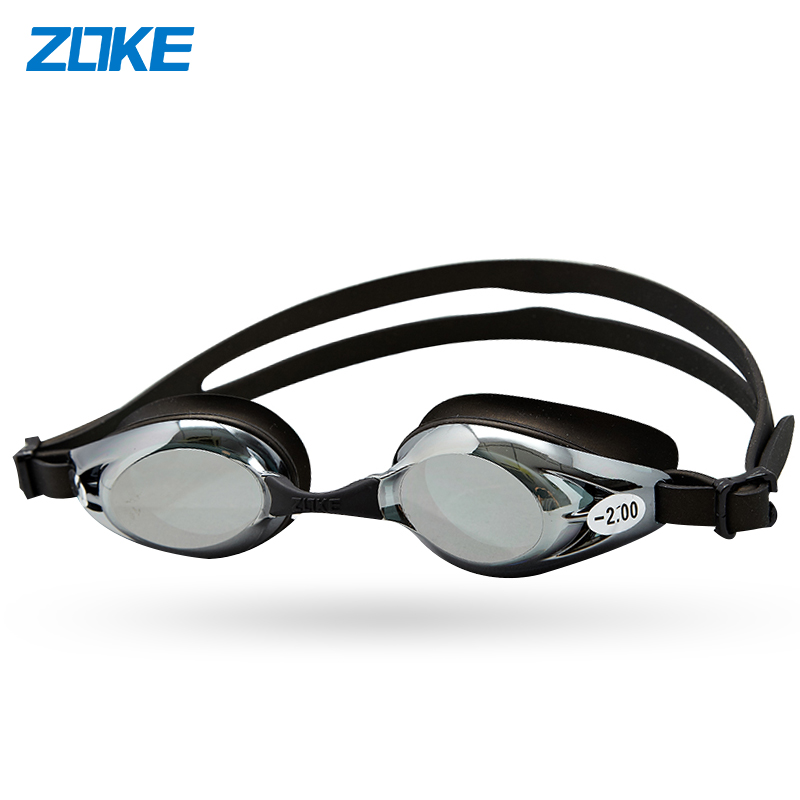 洲克近视游泳眼镜 防水防雾男女士通用度数舒适高清专业电镀泳镜
