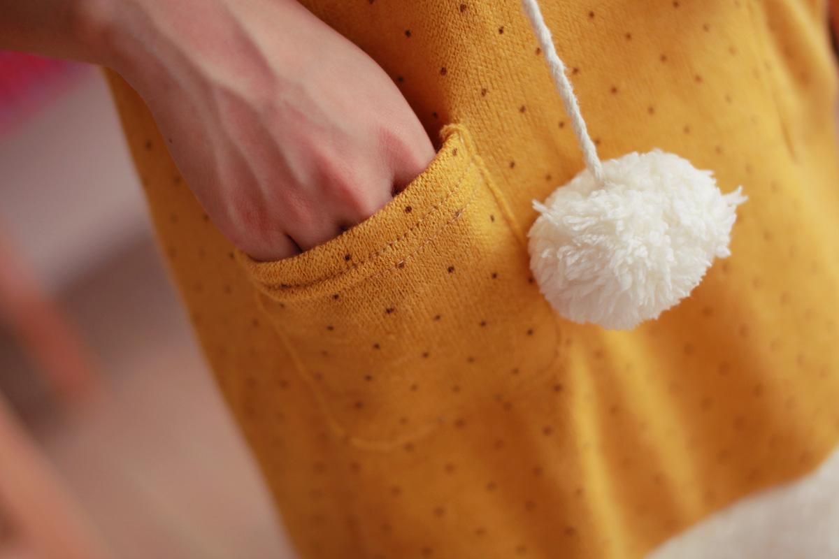 Толстовка женская Милый снежок свитер с короткими рукавами зима точка шляпа волна женской вязать свитер длинный абзац свитер