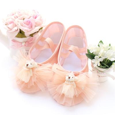 Korean bear Princess dance shoes,children dance training shoes,canvas soft bottom cat claw shoes gym shoes