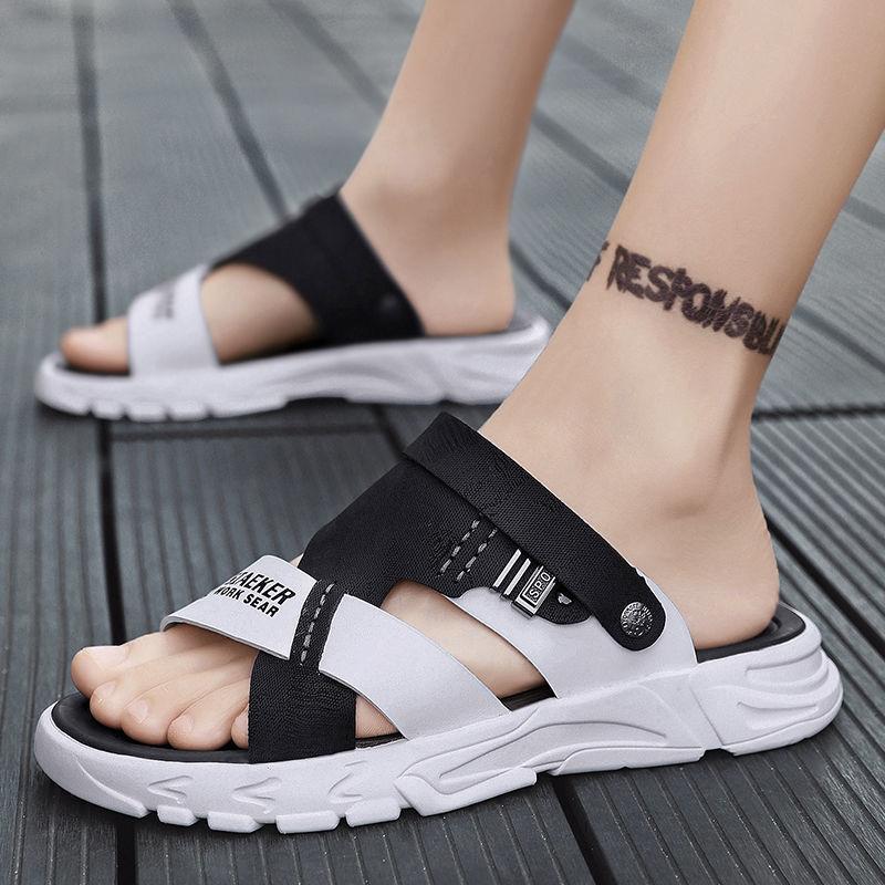男士凉鞋夏季2021新款运动两用拖鞋男休闲沙滩鞋软底开车凉拖防水