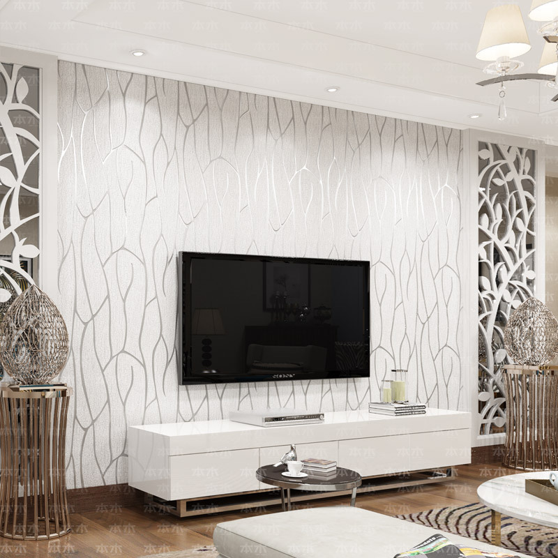 Usd 133 39 The Wood Living Room Tv Background Wallpaper Modern