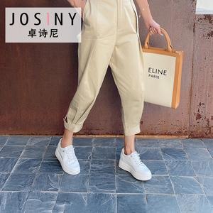 卓诗尼单鞋2020秋季新款厚底小白鞋学生增高百搭时尚潮运动女鞋